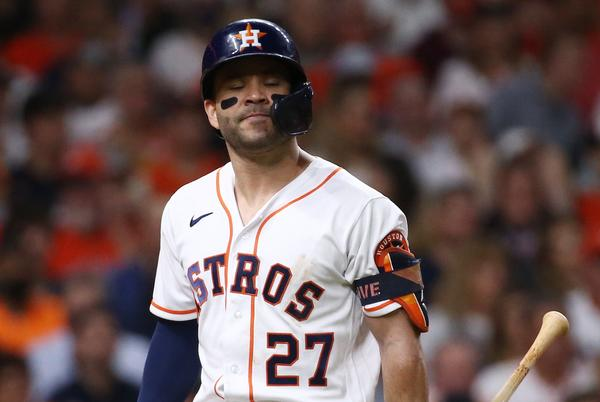 Picture for Astros' longtime heroes Jose Altuve, Alex Bregman slumping at worst time possible in World Series