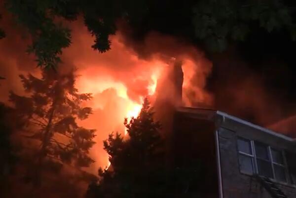 Picture for Massive fire destroys Burr Ridge home, estimated half-million in damage, officials say
