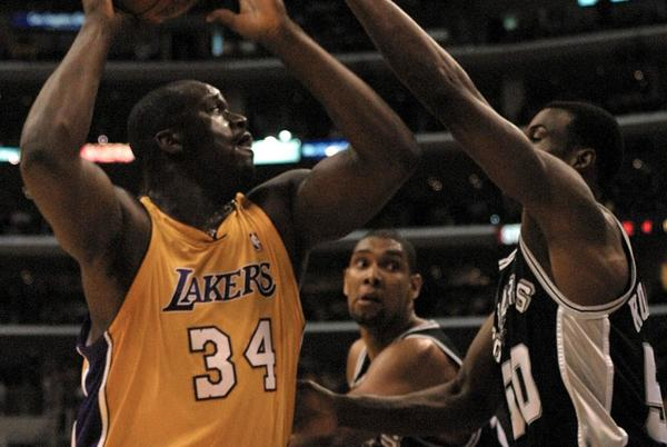 Picture for Shaquille O'Neal says he would've joined Tim Duncan and David Robinson on Spurs if he'd wanted to form superteam