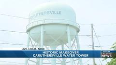 Cover for Caruthersville historic water tower gets a 20-thousand dollar update