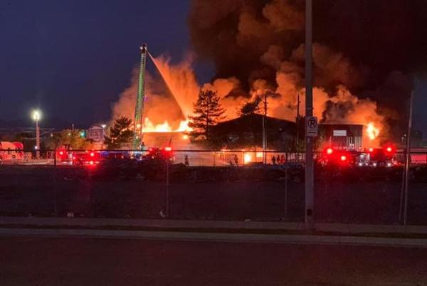 Picture for Fire breaks out in old Salt Lake steakhouse