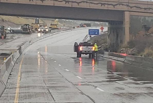 Picture for Standing water forces closure of I-215 Eastside belt Saturday