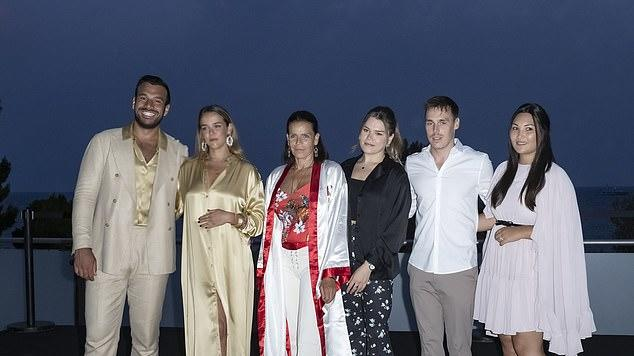 Picture for Mamma Mia! Princess Stephanie rocks a 70s-inspired satin kimono as she's joined by her children at ABBA-themed ball to support Fight Aids Monaco