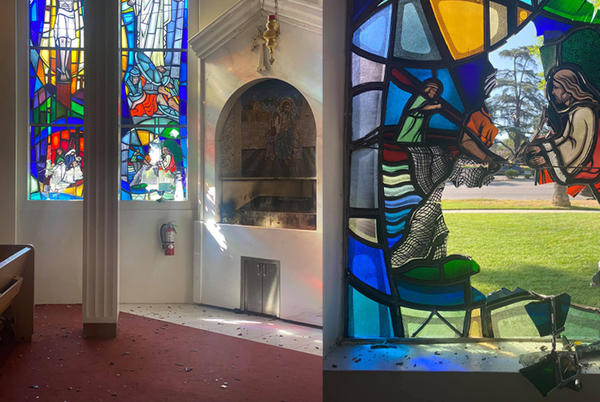Picture for 8 Stained Glass Windows Of St. Peter Armenian Apostolic Church In Lake Balboa Found Shattered By Masked Vandal