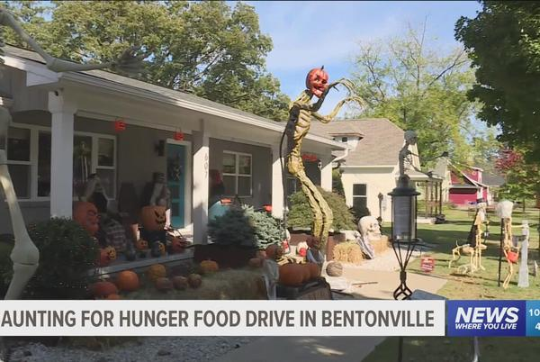 Picture for NWA couple use Halloween display to fight food insecurities