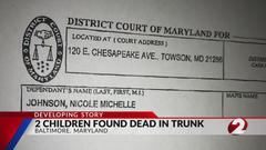 Cover for Children found dead in trunk of Maryland car from Ohio