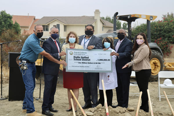 Picture for Rialto Unified School District breaks ground on one if its dreams – International Healing Garden with help from Assembly Majority Leader Reyes