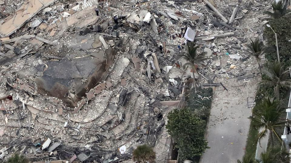 Picture for 99 people unaccounted for in condo tower collapse