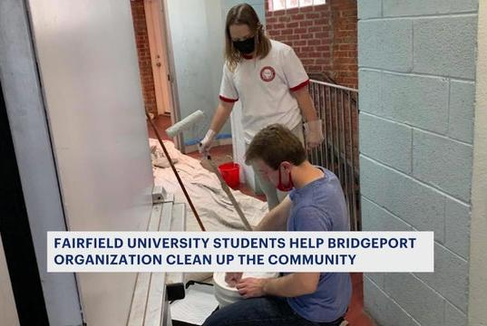 Picture for 100 students, volunteers work together to clean up Bridgeport