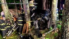 Cover for Maine man killed after crashing into trees