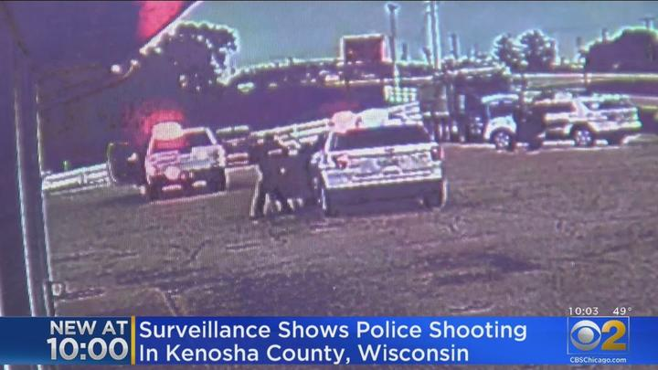 Cover for Surveilence Video Shows Moments Leading To The Arrest Of Allan M. Brown, Suspect In Kenosha Police Shooting