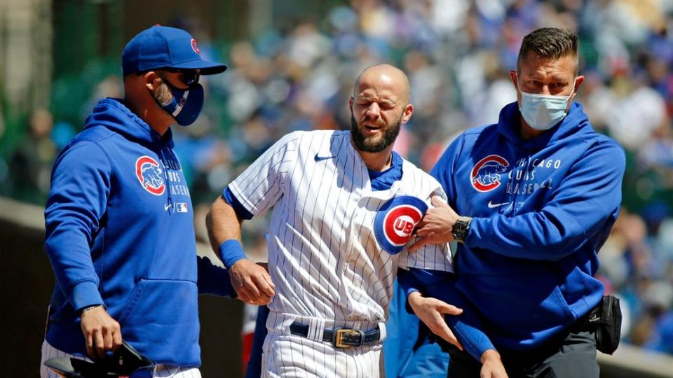 Picture for Chicago Cubs send infielder David Bote (shoulder) to IL