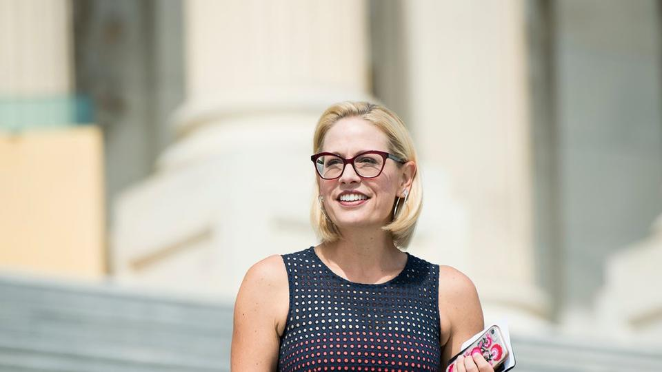 """Picture for Kyrsten Sinema ripped by key supporter ahead of Trump visit: """"Why are you even in the Senate?"""""""