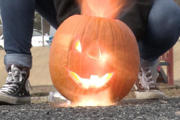 Picture for Montana Tech students blow up pumpkins in the name of science