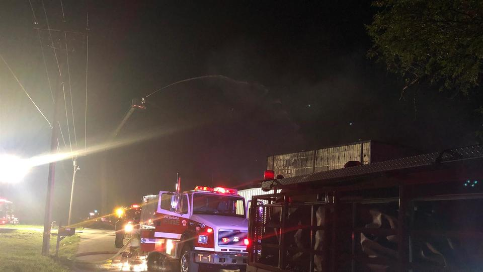 Picture for State fire marshal investigating cause of fire at Ochelata wax manufacturing facility