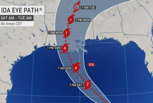 Picture for Hurricane Ida barreling toward US, may approach Gulf Coast as Cat 4 storm