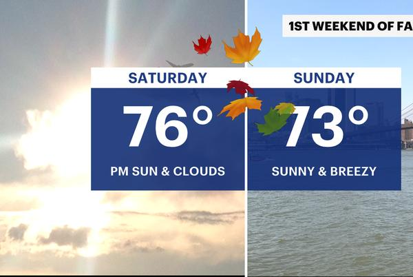 Picture for Sunny, breezy weekend ahead for NYC, possible showers for next week