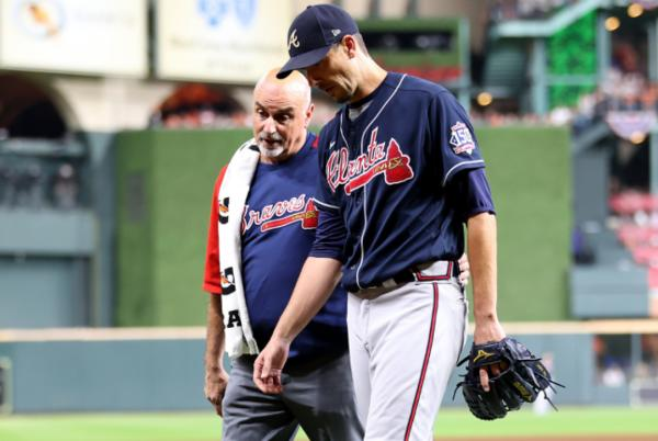 Picture for Charlie Morton injury: Braves pitcher out for World Series after fracturing right fibula on comebacker