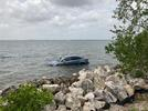 Picture for Car parked in no-parking area along Florida causeway submerged after tide comes in