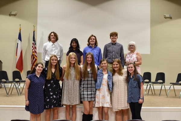 Picture for Faith Academy inducts honor society candidates