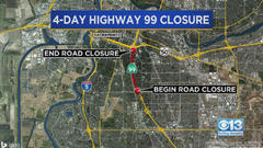 Cover for Sacramento Highway 99 Closure Now In Place: How To Get Around It