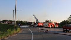 Cover for Highway 69 two-car collision turns into fire
