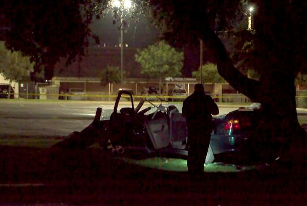 Picture for Five pinned into vehicle, one dead after crash in northeast Fresno, police say