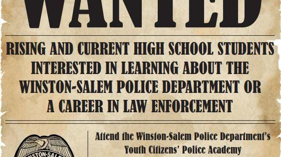 Picture for Police Accepting Applications for Youth Citizens' Police Academy