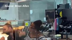 Cover for Woman captured on video attacking McDonald's employees in Ravenna (explicit language)