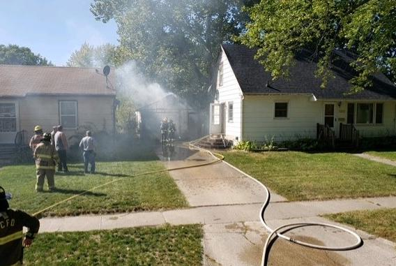 Picture for Webster City Fire Department respond to garage fire Saturday afternoon.