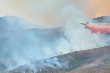 Picture for VIDEO: Tanks For That: Large Tanker Jet Drops Fire Retardant On Montana Wildfire