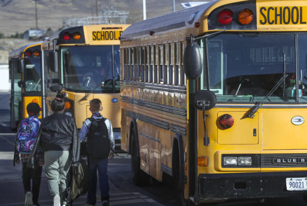 Picture for Alpine School District investigating bus driver for posting propaganda inside bus