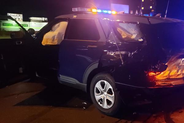 Picture for Woman arrested for drunken driving after allegedly hitting State Police cruiser in Worcester