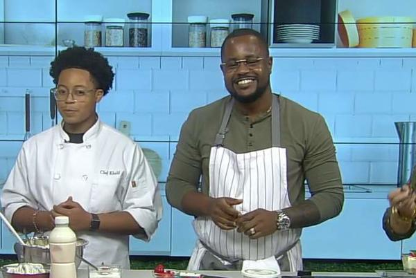 Picture for Houston father-son duo from 'Top Chef Family Style' share their no-bake cheesecake recipe