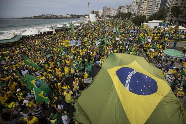 Picture for Bolsonaro supporters rally on national day