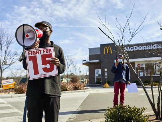 McDonald's Workers Strike in Durham Over COVID Protocols ...