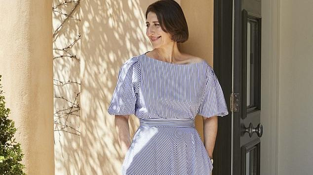 Picture for Gladys Berejiklian opens up about her intimate relationship with dodgy Daryl Maguire while wearing a glamorous Carla Zampatti ensemble - and why she didn't even tell her family about the secret affair