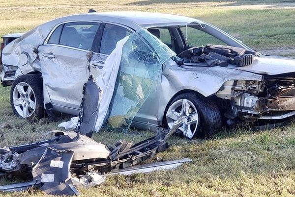 Picture for Car goes off road and overturns, injuring teen from Fort Smith, Ark.