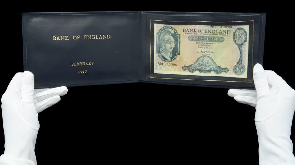 Picture for Rare £5 note which belonged to Harold Macmillan to go under the hammer