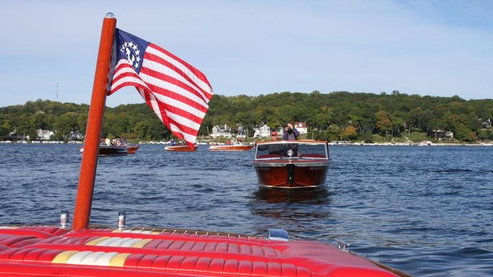 Cover for Watch now: The Streblow wooden boat parade on Geneva Lake in photos and videos