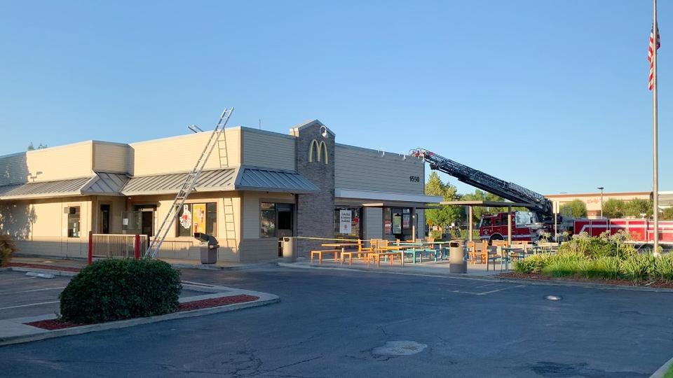 Picture for Early-Morning Blaze Causes Extensive Damage to McDonald's in Ramona