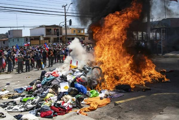 Picture for Demonstrators in northern Chile protest against Venezuela migrants