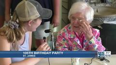 Cover for St. James woman celebrates 105th birthday
