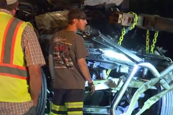 Picture for Johnston County crash involving two-tractor trailers backs up traffic for hours