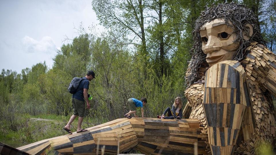 Picture for Giant wooden troll takes up residence in Wyoming park