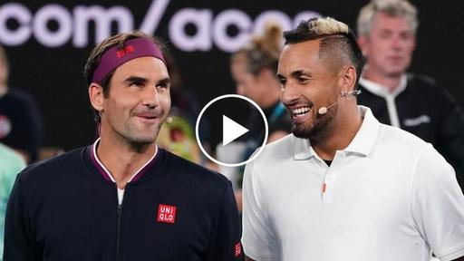 Roger Federer Receives Marriage Proposal While Playing Kyrgios At Ao Rally For Relief News Break