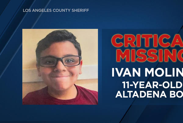 Picture for Altadena missing: 1 boy found, 11-year-old Ivan Molina remains missing