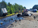 Picture for Two 18-wheelers collide in fatal crash on I-40 West in Putnam County: THP