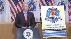 Cover for Massachusetts announces vaccine lottery with five $1 million payouts