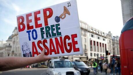 Picture for 'We're feeling the momentum': Julian Assange family says Reality Winner's release raises fresh hope